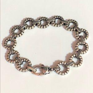 LAGOS Sterling Silver Fluted Round Link Bracelet